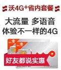 沃4G+省内套餐