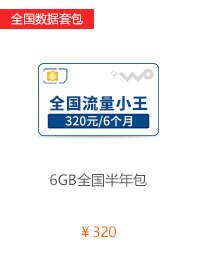 4G全国数据套餐6GB半年包