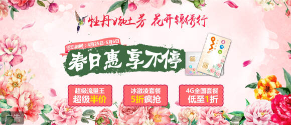 春季促销牡丹花友节