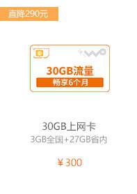 30GB上网卡
