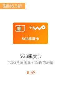 5GB季度卡