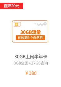 30GB上网半年卡