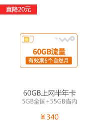 60GB上网半年卡