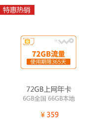 72GB年卡