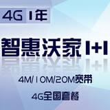 【沈阳融合】4G智慧沃家1+1包一年(4M/10M/20M宽带+4G全国套餐)仅限客户经理下单