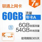 沃3G无线上网卡 12个月流量累计卡快卡(大卡)WK0003