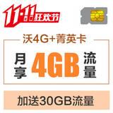 沃4G+菁英卡 月付46元享66元套餐