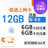 12个月流量累计上网卡-12GB年卡(大卡)WK0006