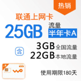【游戏专享】沃3G无线上网卡 快卡 半年套餐(大卡)WK0002