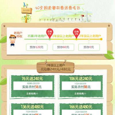 黑龙江联通老用户特惠专区